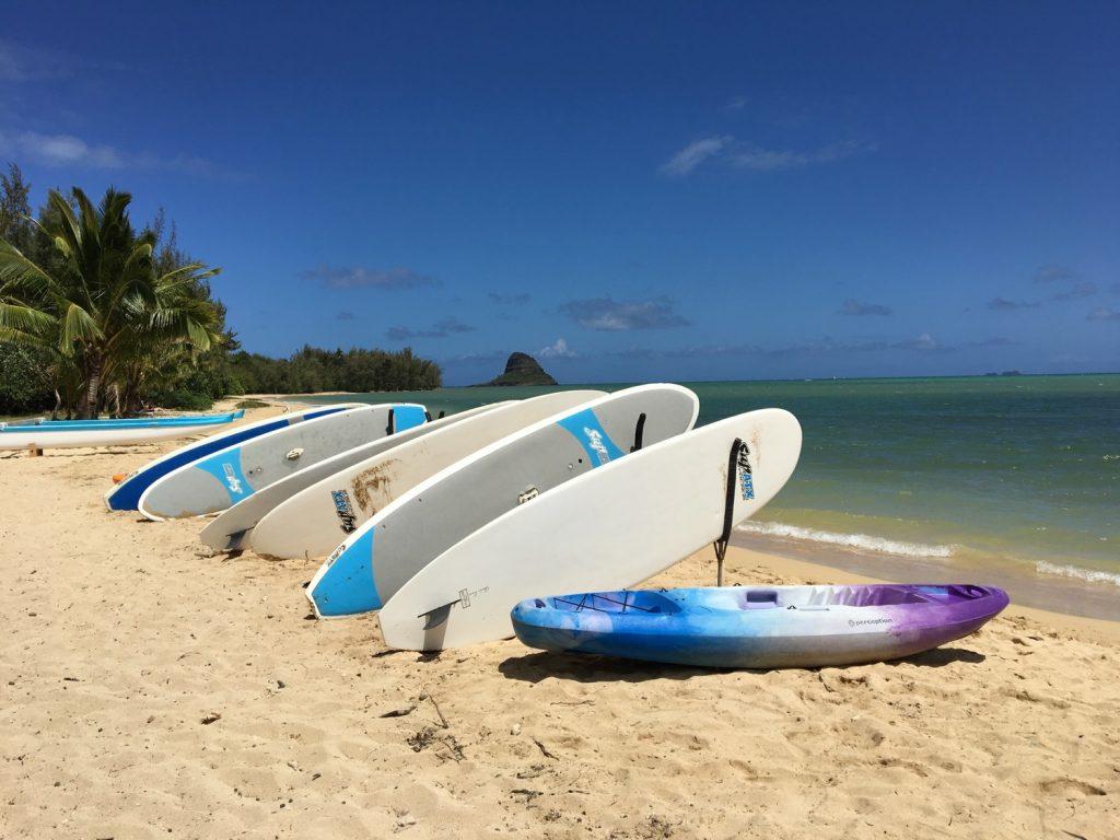 ハワイの海とSUP