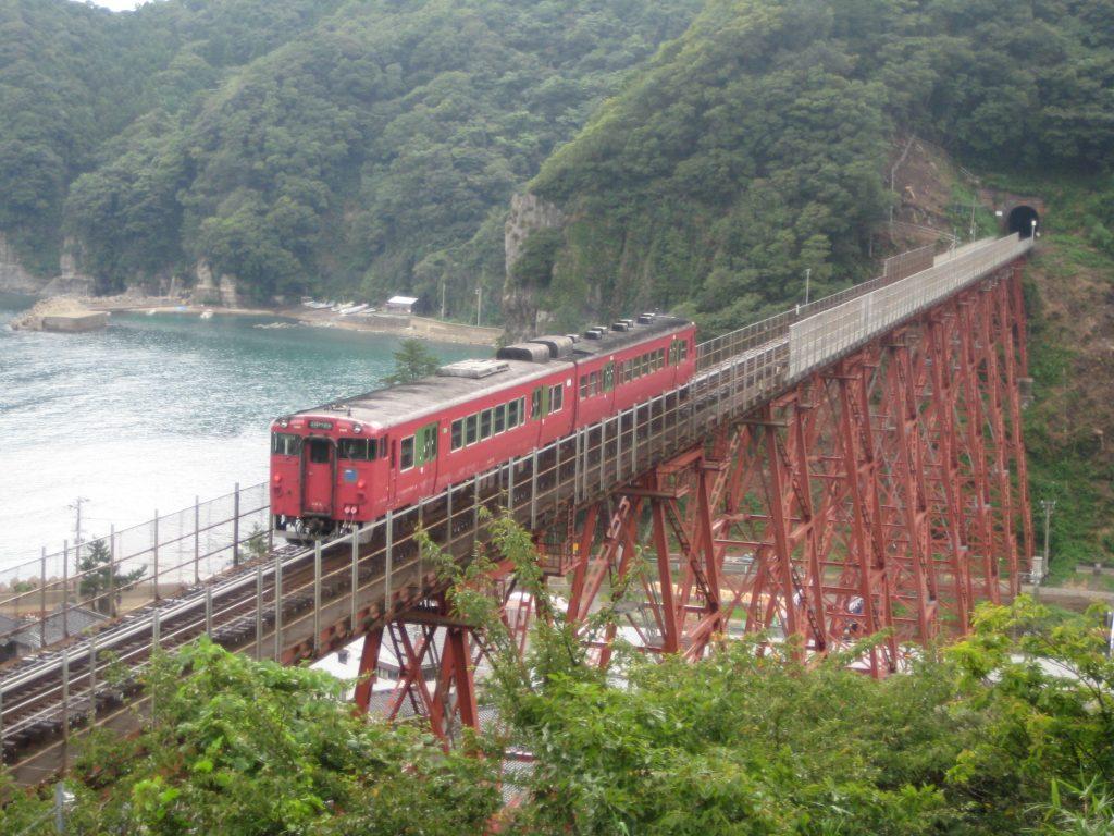 在りし日の餘部鉄橋